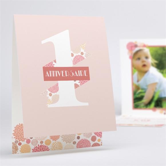 Invitation anniversaire Poudre fleurie réf.N50160