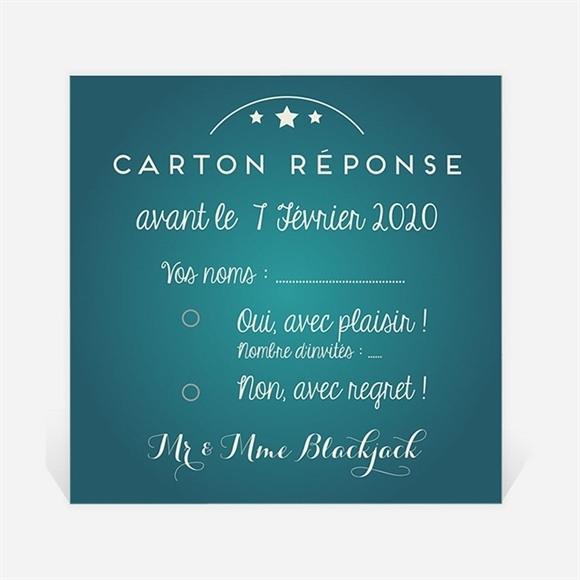 Carton réponse anniversaire de mariage La machine à sous ! réf.N300619