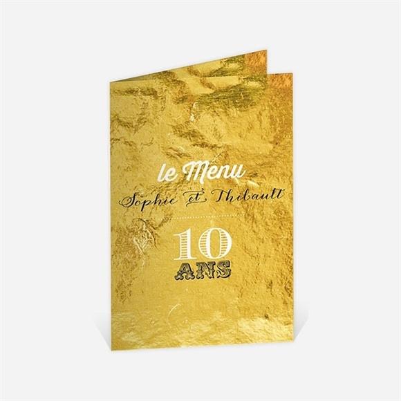 Menu anniversaire de mariage A la feuille d'Or réf.N401521