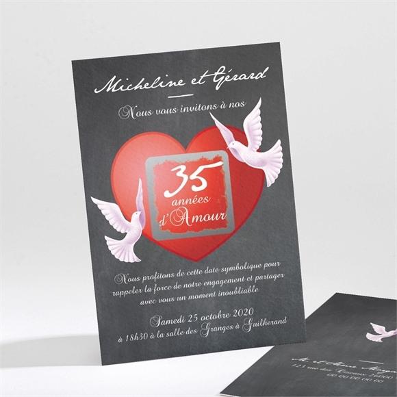 Invitation anniversaire de mariage Symboles de notre Amour réf.N21191