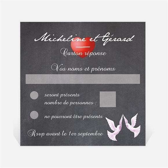 Carton réponse anniversaire de mariage Symboles de notre Amour réf.N300625