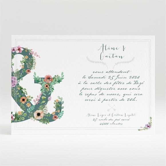 Carton d'invitation mariage Champêtre et original réf.N120307