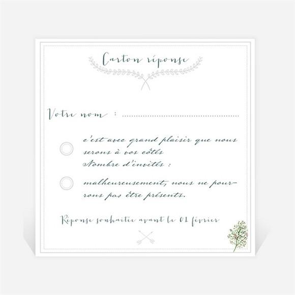 Carton réponse mariage Champêtre et original réf.N300626