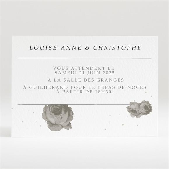 Carton d'invitation mariage rétro chic vintage réf.N120308