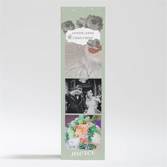 Remerciement mariage rétro chic vintage réf.N200326