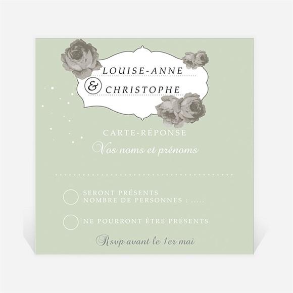 Carton réponse mariage rétro chic vintage réf.N300628