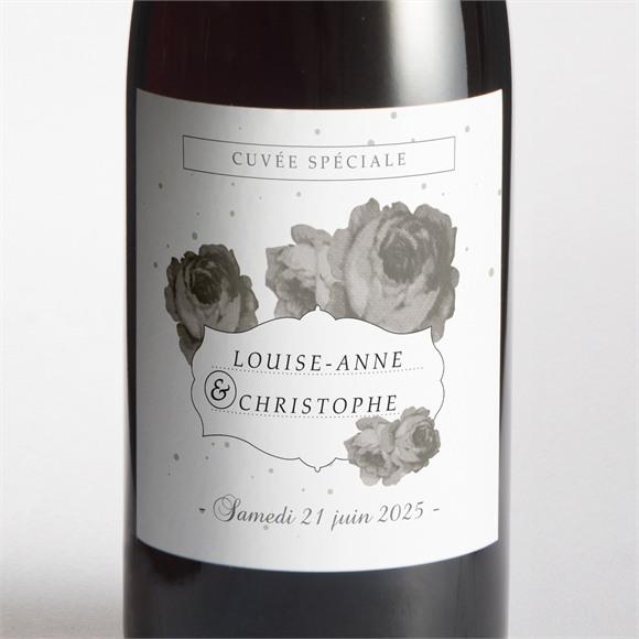 Etiquette de bouteille mariage rétro chic vintage réf.N300629