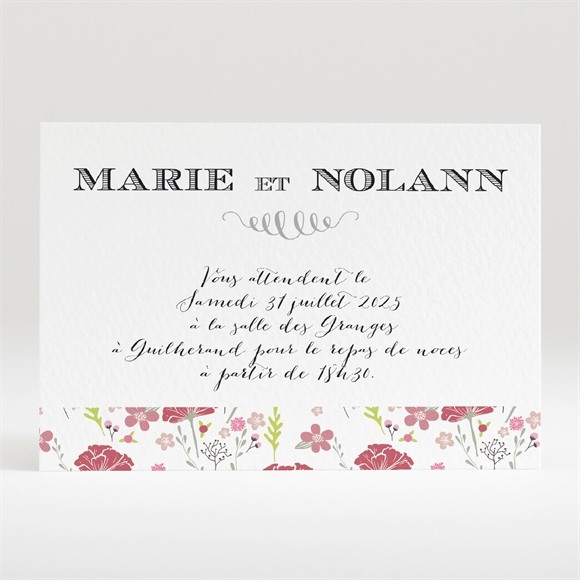 Carton d'invitation mariage Motifs Liberty réf.N120309