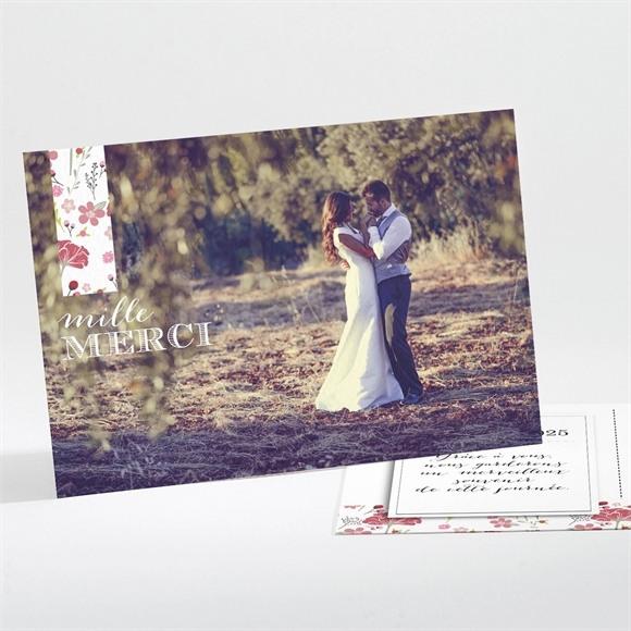 Remerciement mariage Motifs Liberty réf.N11161