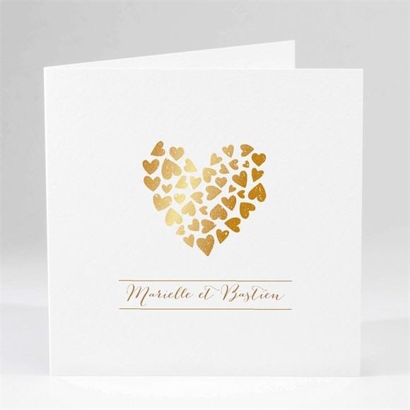 Faire-part mariage Coeur doré réf.N45113