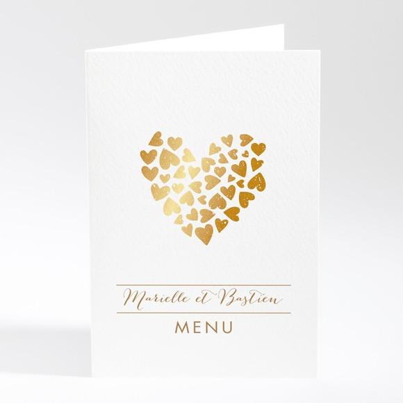 Menu mariage Coeur doré réf.N401527