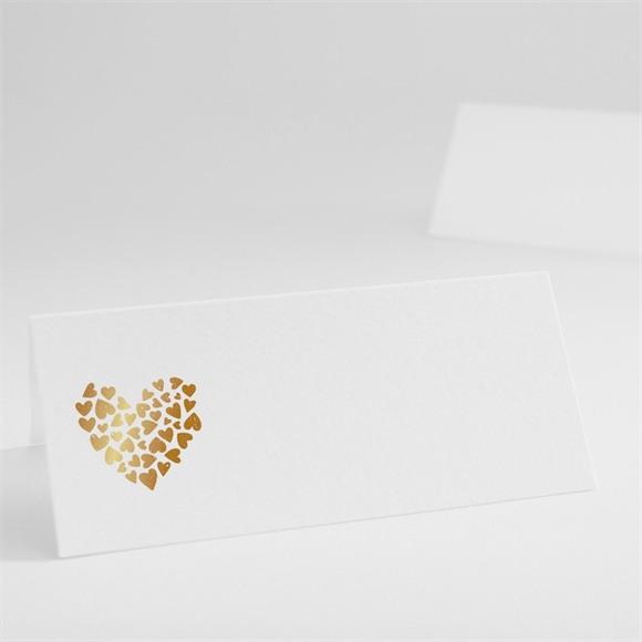 Marque-place mariage Coeur doré réf.N440410