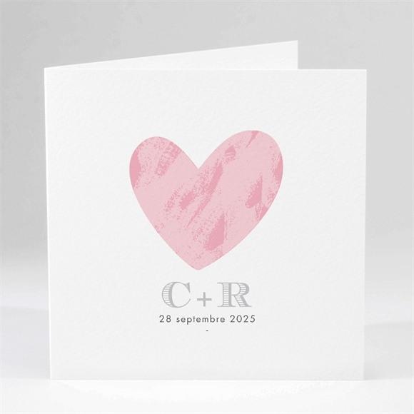 Faire-part mariage Coeur et initiales réf.N45114