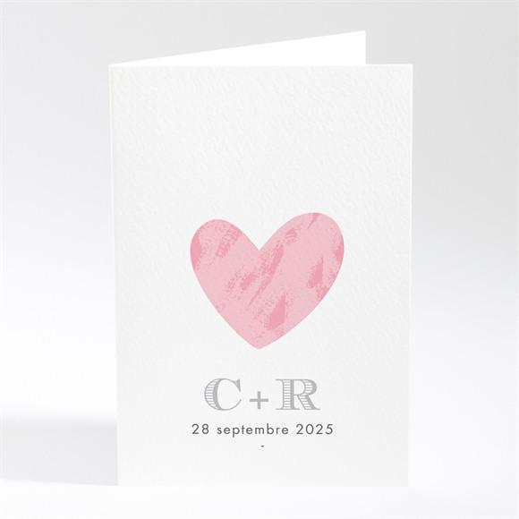Menu mariage Coeur et initiales réf.N401528