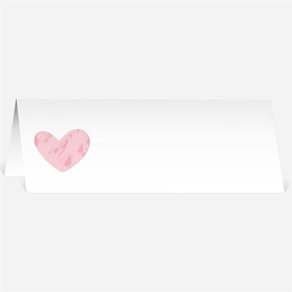 Marque-place mariage Coeur et initiales réf.N440411