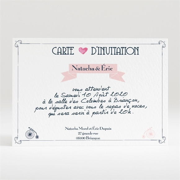 Carton d'invitation mariage Symboles réf.N120313