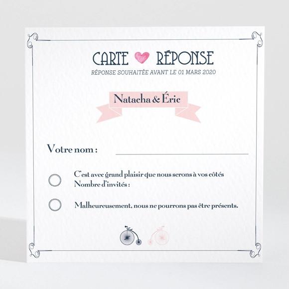 Carton réponse mariage Symboles réf.N300640