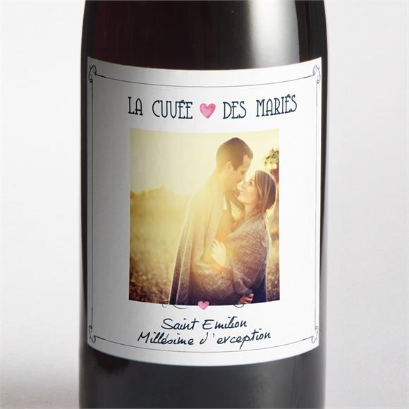 Etiquette de bouteille mariage Symboles réf.N300641