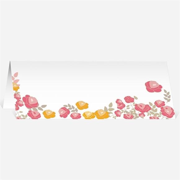 Marque-place mariage Un Coeur en fleurs réf.N440414
