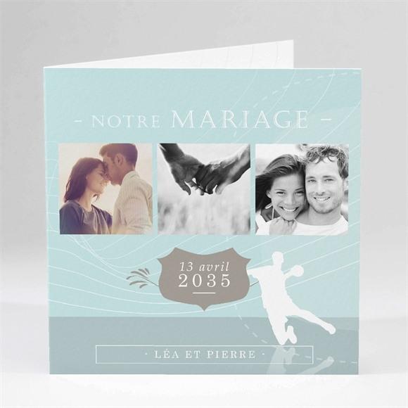 Faire-part mariage Photo Handball réf.N45117