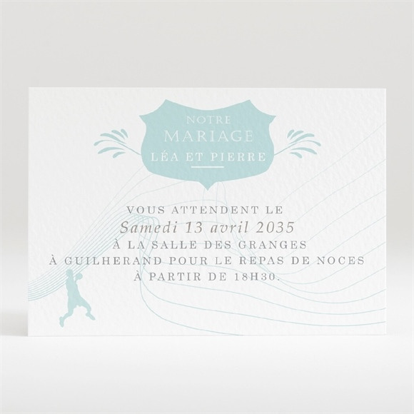 Carton d'invitation mariage Photo Handball réf.N120315