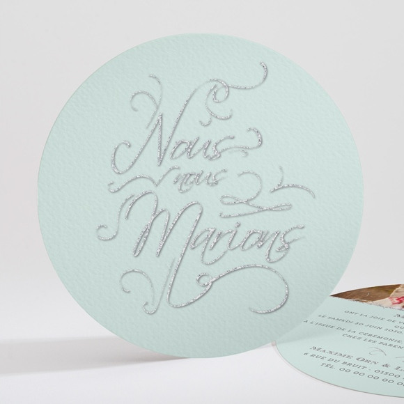 Faire-part mariage Shining ! réf.N32172