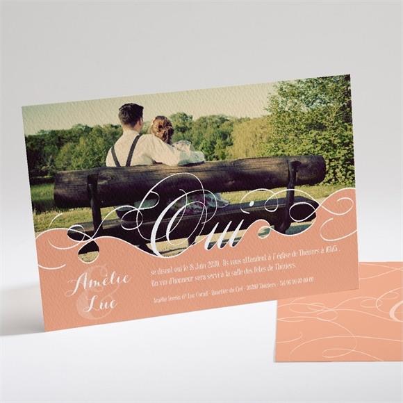 Faire-part mariage Joli Retro vintage réf.N14163