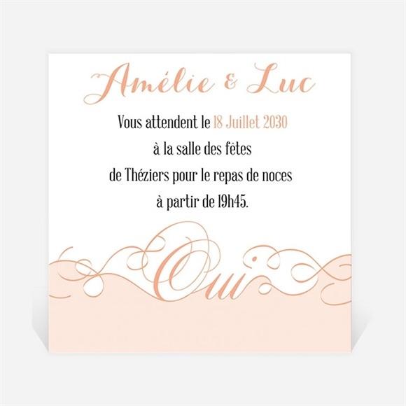 Carton d'invitation mariage Joli Retro vintage réf.N300650