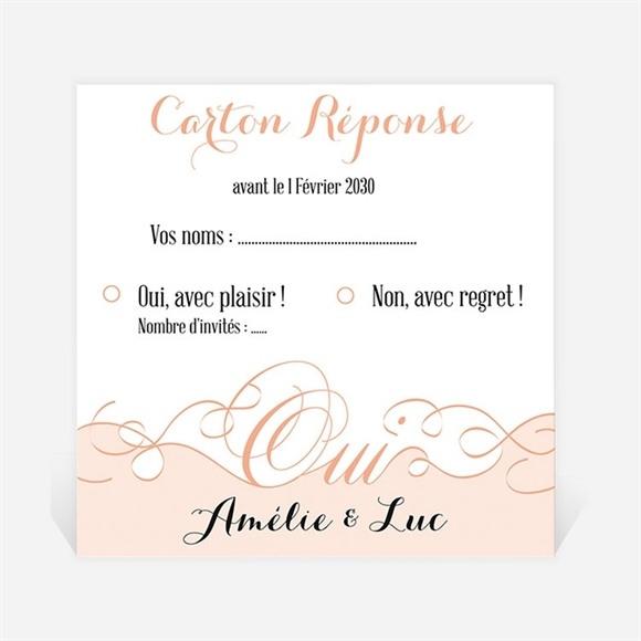 Carton réponse mariage Joli Retro vintage réf.N300651