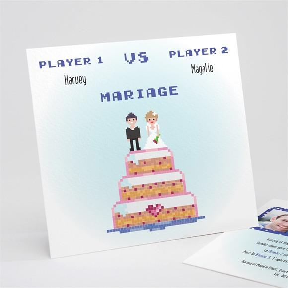 Faire-part mariage Le gâteau des mariés réf.N311146