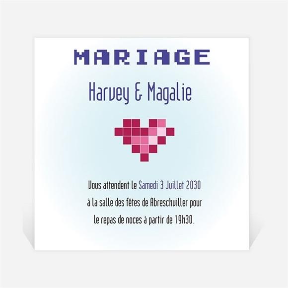 Carton d'invitation mariage Le gâteau des mariés réf.N300653