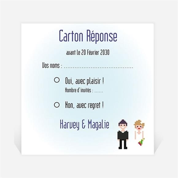 Carton réponse mariage Le gâteau des mariés réf.N300654
