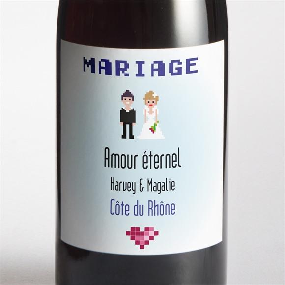 Etiquette de bouteille mariage Le gâteau des mariés réf.N300655