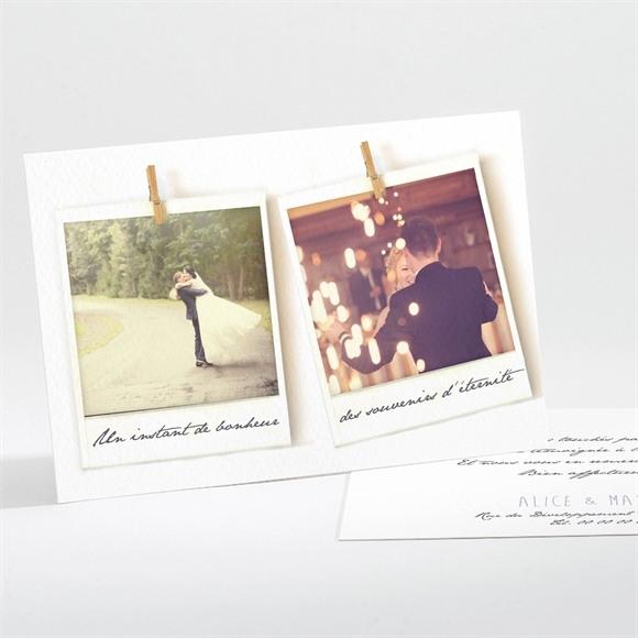 Remerciement mariage Photo polaroid réf.N11166