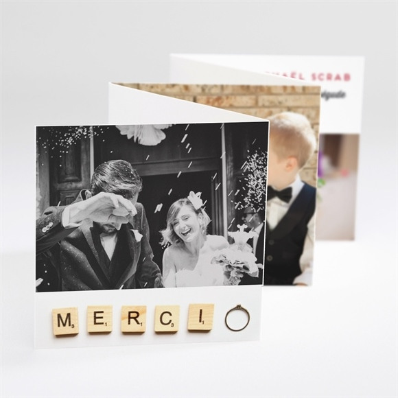 Remerciement mariage Jeux vintage réf.N80065