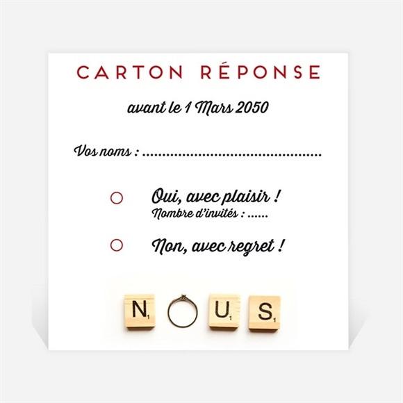 Carton réponse mariage Jeux vintage réf.N300663