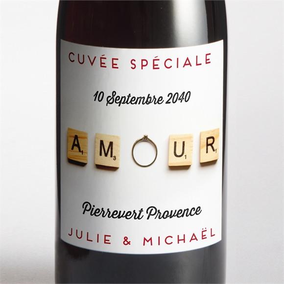 Etiquette de bouteille mariage Jeux vintage réf.N300664
