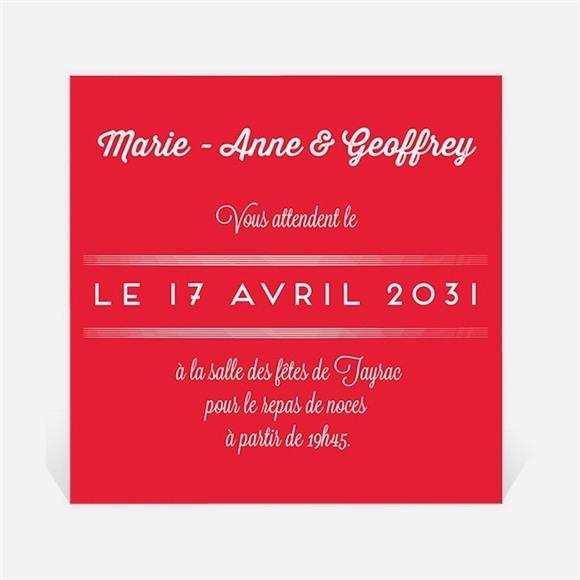 Carton d'invitation mariage La Mélodie du Bonheur réf.N300668