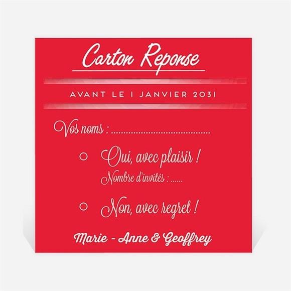 Carton réponse mariage La Mélodie du Bonheur réf.N300669
