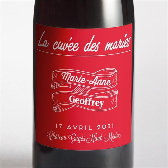 Etiquette de bouteille mariage La Mélodie du Bonheur réf.N300670