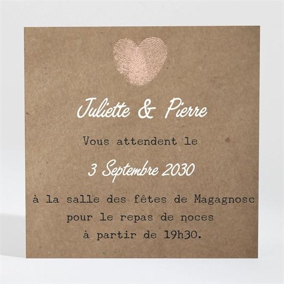 Carton d'invitation mariage Nos empreintes réf.N300671
