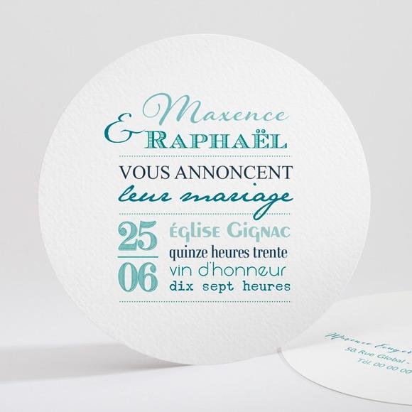 Faire-part mariage Jeu de typographies réf.N32173