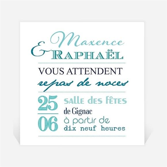 Carton d'invitation mariage Jeu de typographies réf.N300674