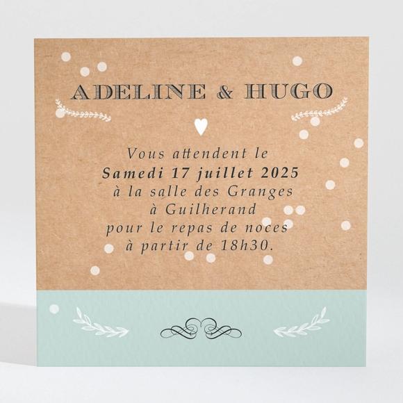 Carton d'invitation mariage Petite cocotte réf.N300680