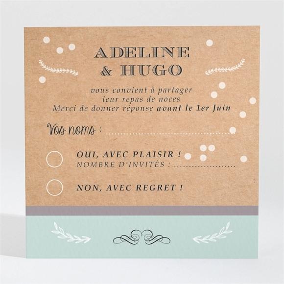 Carton réponse mariage Petite cocotte réf.N300681