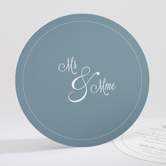 Faire-part mariage Mr & Mme réf.N32174