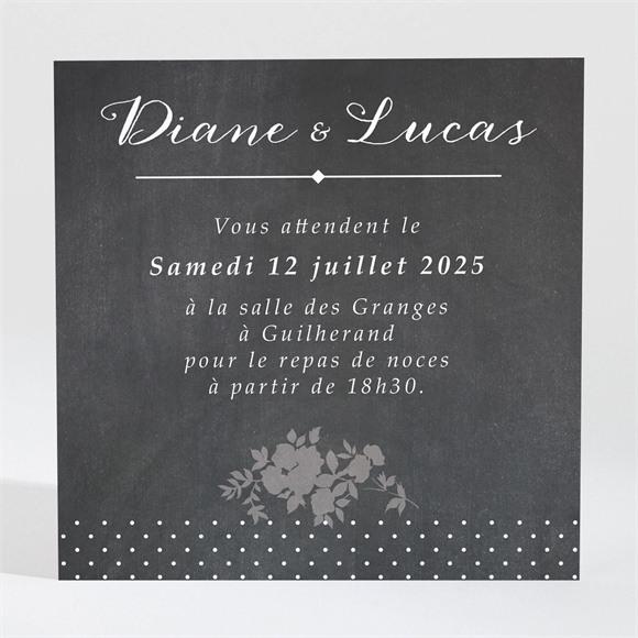 Carton d'invitation mariage Retro original réf.N300686