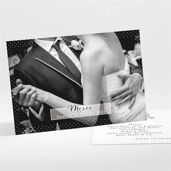 Remerciement mariage Retro original réf.N11171