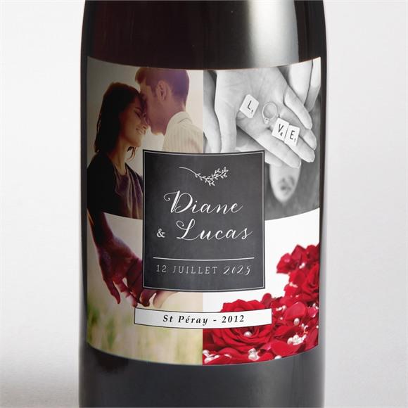 Etiquette de bouteille mariage Retro original réf.N300688