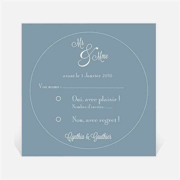 Carton réponse mariage Mr & Mme réf.N300684